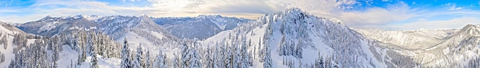 Stevens Pass Washington Ski Area 360 Aerial Panoramic View