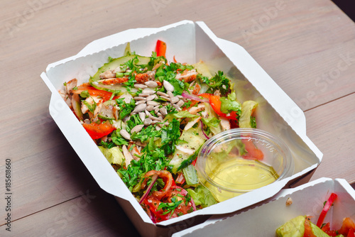 Healthy Food Delivery Take Away Of Natural Organic Low Carb Eat