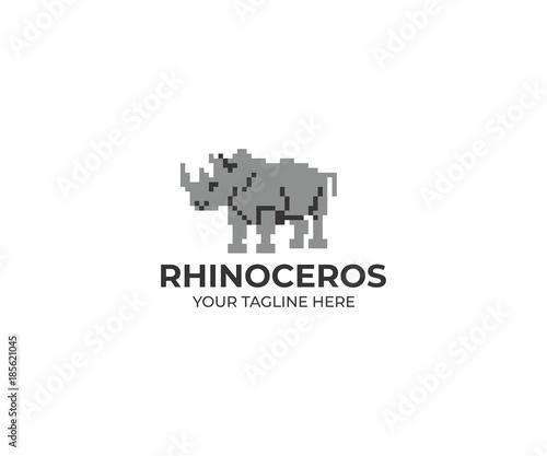 rhinoceros logo template rhino vector design animal illustration