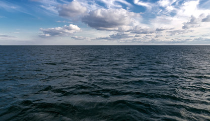 Summer landscape with black sea