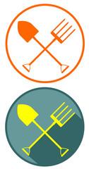 gardening tools flat design icon vector eps 10