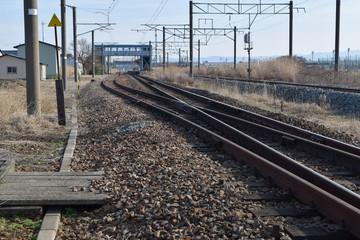 鉄道線路の分岐ポイント