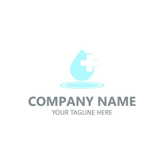Medical logotype vector emblem healcare design illustration