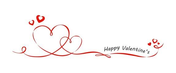 Valentinstag Schleifen mit Herzen