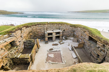 Skara Brae. One of Europe`s best preserved Neolithic sites, Orkney, Scotland