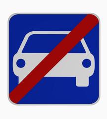 Deutsches Verkehrszeichen: Ende Kraftfahrzeugstraße.