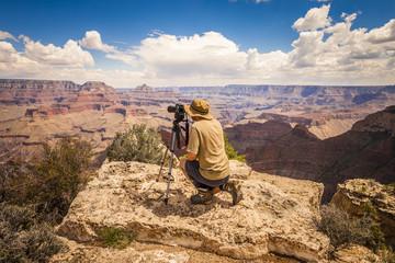 Photographer in Grand Canyon, Arizona.