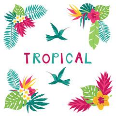 Summer tropical corner elements