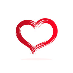 Vector illustration of a heart isolated on a white background.
