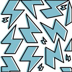 electric ray symbol pattern background vector illustration design