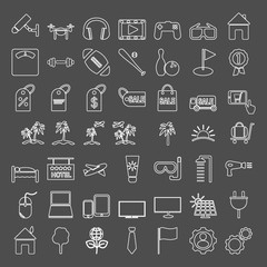 Icons set. Icons for graphic and web design.