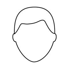 default male avatar man profile picture icon vector illustration outline image