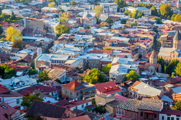 View over rooftops of Tbilisi, Georgia