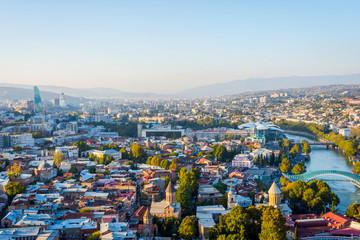 View over Tbilisi skyline, Georgia