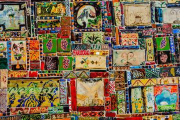 Colorful tiles in Tbilisi, Georgia