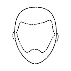 man with beard avatar icon image vector illustration design  black dotted line