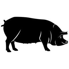 Vector image of pig's silhouette