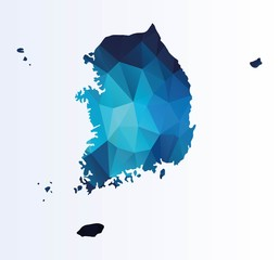Polygonal map of South Korea