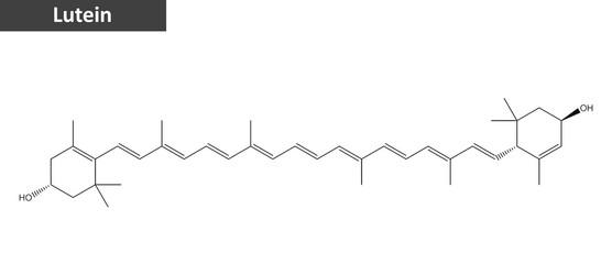 Molecular structure of Lutein