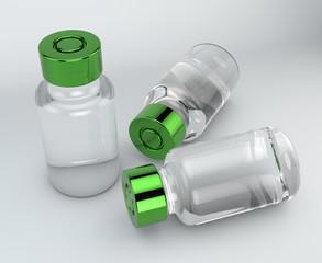 Fiala, somministrazione di farmaci. Fiala con tappo verde