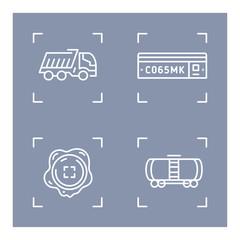 Transport linear vector icon. Trendy line illustration transport for website of delivery service.