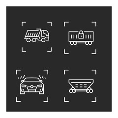 Transport linear vector icon. Trendy line illustration transport for website of delivery service.