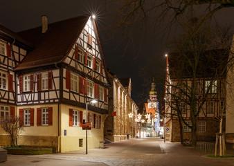 Max-Eyth-Haus in Kirchheim Teck mit Weihnachtsbeleuchtung