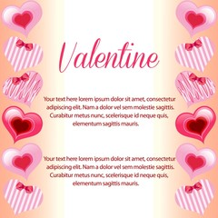 valentine cute heart vertical border