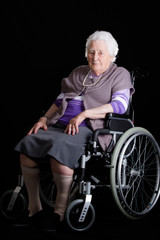 Senior Woman in a Wheelchair