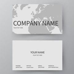 Vector business card template. Visiting card for business and personal use. Modern presentation card with company logo. Vector illustration design.