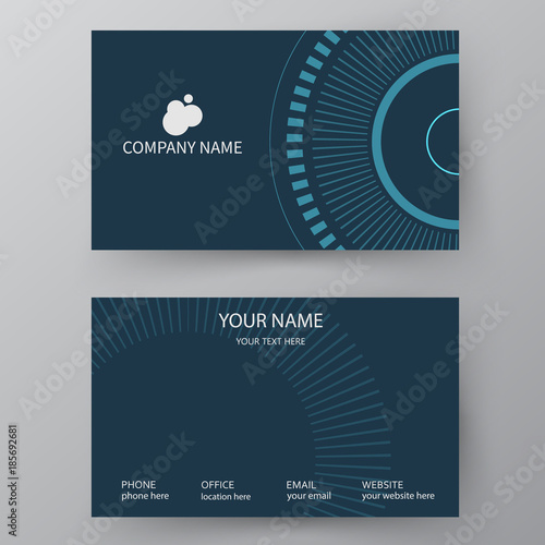 Vector business card template visiting card for business and vector business card template visiting card for business and personal use modern presentation card wajeb Images