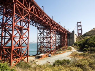 Golden Gate Bridge structure - San Francisco, California, CA, USA