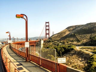 Golden Gate Bridge structure - San Francisco, California, CA, USA