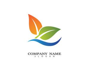 Eco logo vector icon