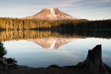 Mount Adams Takhlakh Lake Smooth Reflection Washington Cascade Mountain Range