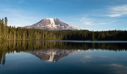 Mount Adams Takhlakh Lake Smooth Reflection Washington Cascade Mountain Range