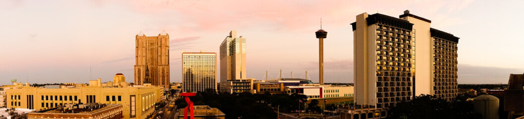 San Antonio Skyline Wide Panoramic South Central Texas