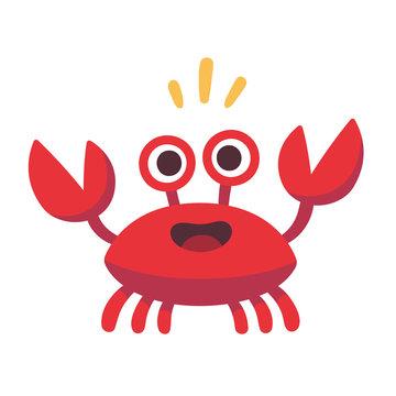 Cute cartoon crab