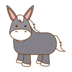 cute mule character icon vector illustration design