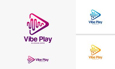 Vibe Play logo designs concept, Music Vibe logo template vector