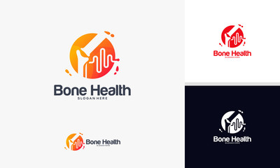 Bone Health logo designs concept, Bone Traetment logo template vector