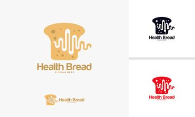 Health Bread logo designs concept, Health Food Logo template vector