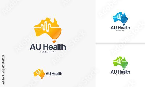 Map Of Australia Logo.Australian Health Logo Designs Concept Australian Map Logo Designs