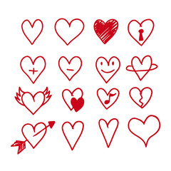 hearts icon design