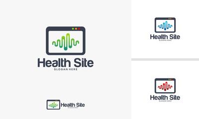Health Website logo designs Concept, Medical logo designs vector