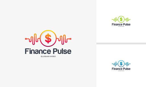 Finance Pulse logo designs concept, Finance logo designs, Health  logo template
