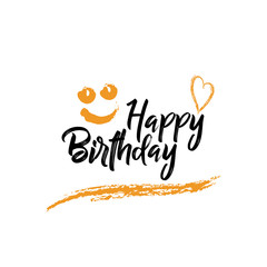 happy Birthday Typography for Greeting Card, Birthday card, invitation card.