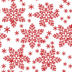 Abstract seamless background design cloth texture with snowflakes. Creative vector endless fabric pattern with shapes of small icy crystal shapes. Simple soft graphic tile images for wallpaper.