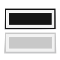 Realistic black frame isolated on white background. vector.