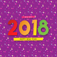 Happy New Year with Background